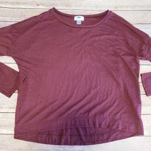 Old navy casual maroon long sleeve shirt